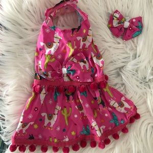 Llama Dog Dress